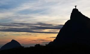 Corcovado bei Abendstimmung, Sicht von Dona Marta